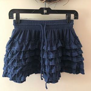 Aeropostale blue mini ruffle skirt
